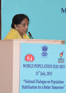 The Minister of State for Health & Family Welfare, Smt. Santosh Chowdhary