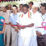 The Minister of State for Personnel, Public Grievances & Pensions and Prime Minister's Office, Shri V. Narayanasamy inaugurating the Bharat Nirman Public Information Campaign, at Karaikkal, Puducherry on September 01, 2013.