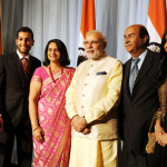 The Prime Minister, Shri Narendra Modi meeting different dignitaries from Indian community .