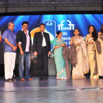 The Minister of State (Independent Charge) for Information & Broadcasting, Shri Manish Tewari and the Chief Minister of Goa, Shri Manohar Parrikar with the Bollywood actors at a felicitation ceremony, during the inauguration of the 44th International Film Festival of India (IFFI-2013), in Panaji, Goa on November 20, 2013.