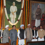 111th birth anniversary, at Parliament House, in New Delhi on December 23, 2013.